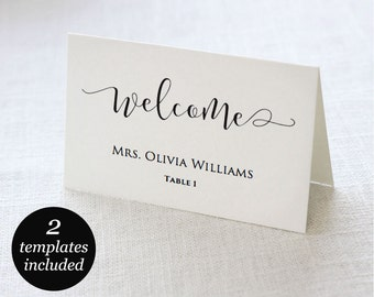 Wedding Place Cards, Wedding Place Card Printable, Place Card Template, Wedding Printable, PDF Instant Download, Editable Wedding Template