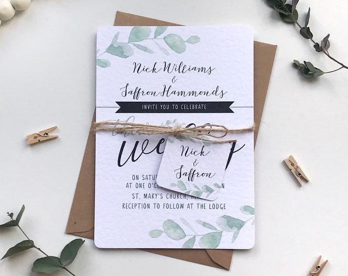 Eucalyptus Wedding Invitation Bundle SAMPLE