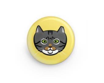 Feral Cat Button - Walter