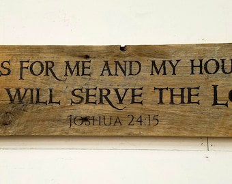 As for me and my house we will serve the Lord 24 inch Barnwood Plaque ON Sale 37 Regular 45