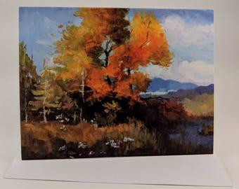Matte Print Art Card - Fall Colors
