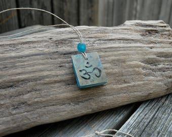 Om Necklace, Yoga necklace, Meditation necklace, gourd necklace