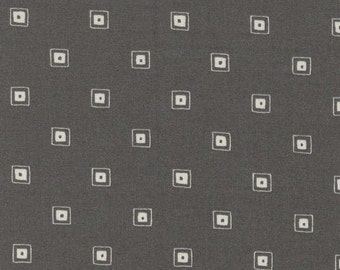 Quilt fabric by the Half-Yard or Full Yard - Modern Basic by Lecien - Gray Squares