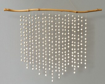 Statement gumnut wall hanging. A large white cast plaster wall piece handmade to order in Australia by Kuberstore