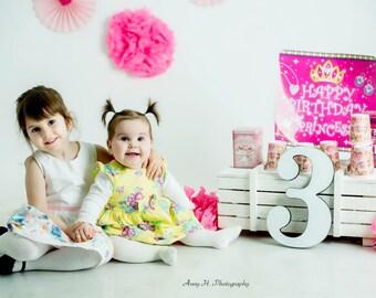 Birthday sign wood number 1st birthday photo props, 2nd birthday photo props, 3rd birthday photo props, wooden number birthday