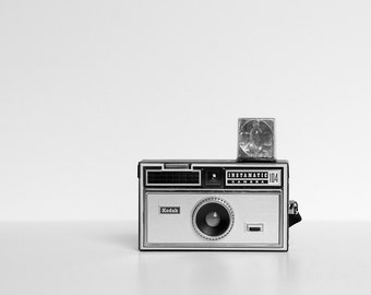 Vintage Camera Print | For Artists | For Photographers | Kodak Instamatic | Wall Art | Home Decor | Black and White | Minimalist