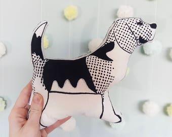 Beagle Gift, Dog Plush, Dog Soft Toy, Stuffed Animal, Decorative Pillows, Screen Print Cushion, Beagle owner, Dog Plushie, Hound Dog gift