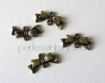 Pendant silver color bow