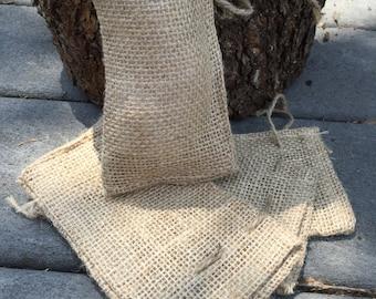 50 Small Burlap Wedding Favor Bags --Quantity 50 -- 3x5 Burlap Bags - Rustic Gift Bags - wedding burlap bags
