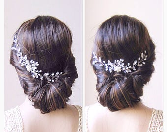 Bridal hair vine ,bridal headpiece, bridal hair comb, wedding hair comb, wedding headpiece, pearl hair vine