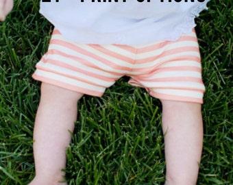 Baby girl shorts, baby shorts, infant girl shorts, printed shorts, baby outfit, organic baby