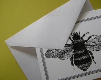 Napoleonic Bee Note Cards Black White Set of 10