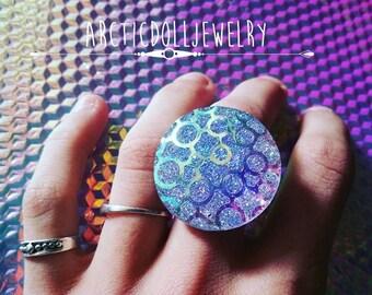 Crop circle iridescent alien ring