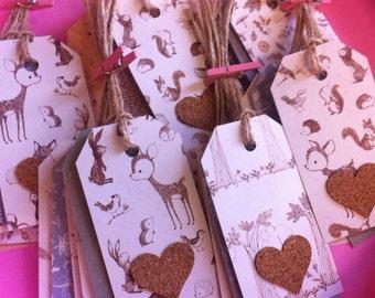 Handmade Woodland Gift Tags