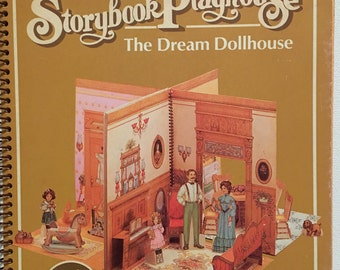 Hallmark Storybook Playhouse, Dream Dollhouse, Vintage Punchouts, Standup Book, Uncut