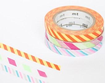 mt slim washi tape set - Stripes (B) Thin washi tape set by mt masking tape