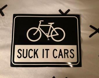 Suck It Cars Sticker (Small)