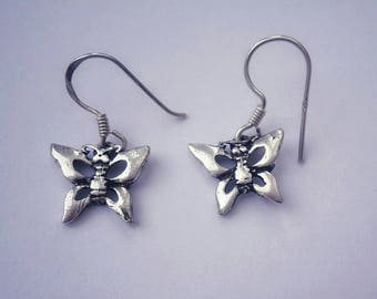 Butterfly Earrings - Silver Butterfly Earrings - Silver Butterfly Jewellery - Silver Butterfly - Butterfly Gifts - Sterling Silver Butterfly