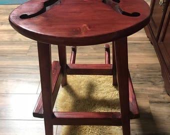 Handmade Cabernet Guitar Stool/Stand