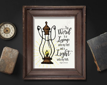 Thy Word Is A Lamp Unto My Feet And A Light Unto