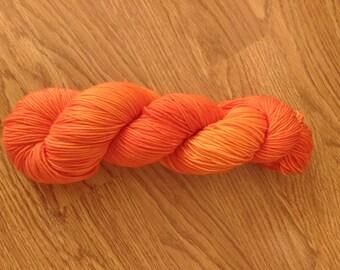 Sun-kissed Orange superwash merino wool and nylon blend 328 yds 100g sport weight yarn