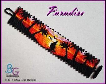 PARADISE Peyote Cuff Bracelet Pattern