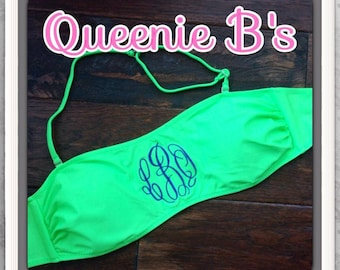 Lime Green Bandeau Swim Top - SUMMER MUST HAVE!!