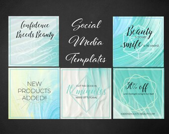 Social media template for Canva, Instagram, Facebook, Pinterest, marketing, instagram, instant download, spiritual, healer, lifestyle, quote