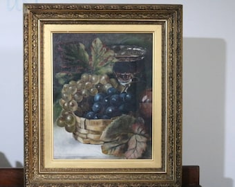Original Oil Painting by Louis Haghe's daughter Lily, circa 1920s. In good condition with wonderful, intriguing inscription
