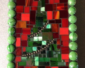 Stained Glass Mosaic Christmas Tree