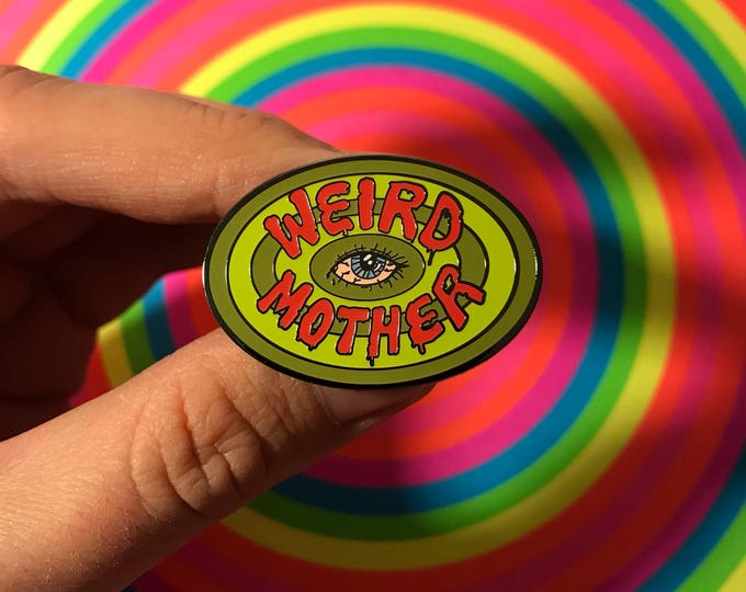 Weird Mother Eye Sick Sad World Daria Mash up Pin.