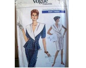 Vogue Pattern 7236 - Vintage Dress Pattern - Uncut - Size 8