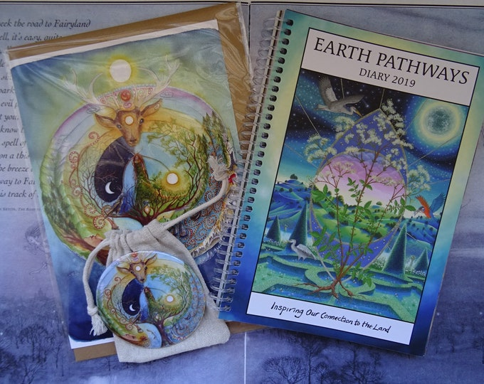 Featured listing image: Earth Pathways Diary 2019 - Deer Medicine Gift Set