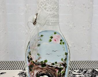Nest Bottle Art, Hand Painted Original, CSSTeam, ECS