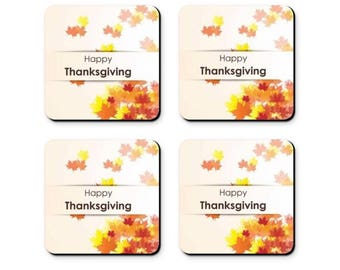 Thanksgiving Coaster - Set of 4