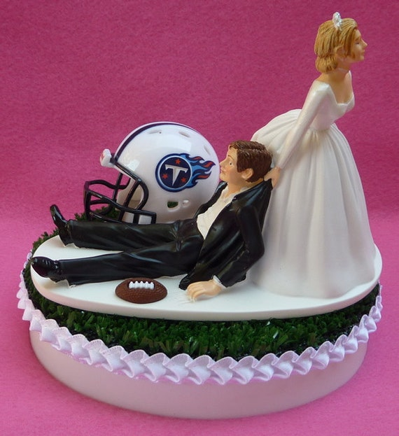 San Diego Chargers Cake: Wedding Cake Topper Tennessee Titans Football Themed Sports