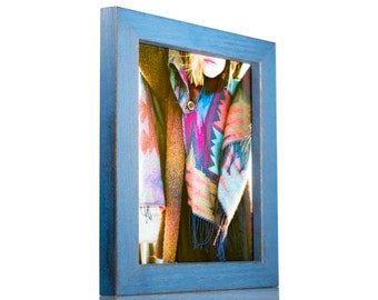 """Craig Frames, 8.5x11 Inch Sapphire Blue Picture Frame, Gesso 1.25"""" Wide (779007028511)"""