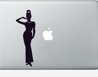 Breakfast At Tiffany's Velvet Sticker - Holly Golightly Wall Art - Movie Wall Decal - Film Macbook Decal