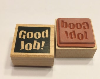 "small "" Good Job "" rubber stamp, 20 mm (F1)"
