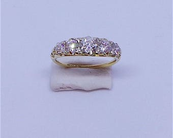 Victorian Engagement ring in 15 carat gold