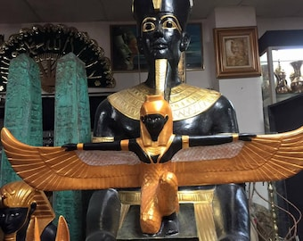 Vintage Unique Hand Carved Egyptian Mother Goddess ISIS Statue Made In Egypt