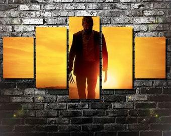 Logan Canvas, Logan poster, Wolverine wall art, x-men print, home decoration, 5 pieces / 5 panel large wall art, Birthday Gift