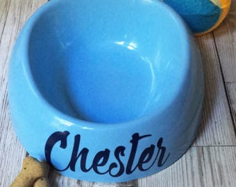 Personalised dog bowl/ cat bowl