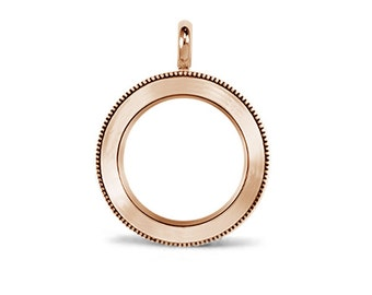 Medium Rose Gold Heirloom Stainless Steel Twist Locket