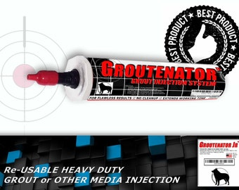 GROUTENATOR JR - Grout injection systems for Grout & More - Grout Bag and Float replacement - Refillable 10oz size tube