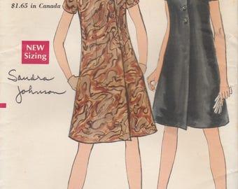 60s A-Line Coat-Dress Pattern Vogue 7234 Size 10 Cut