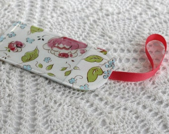 Single Luggage Tag - Forget Me Not and English Roses