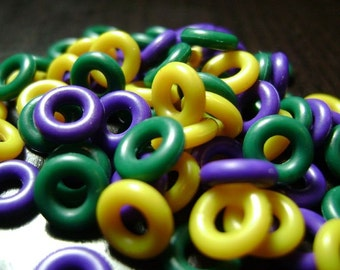 7mm Mardi Gras Rubber O Ring Mix ... 75 ct.