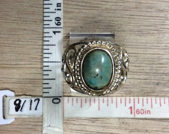 Vintage 925 Sterling Silver 4.8g Ring Size 6 Greenish Grayish Used