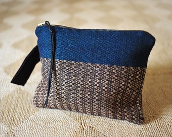 Pochette tissée main/ Tissage artisanal/ Coton & Lin